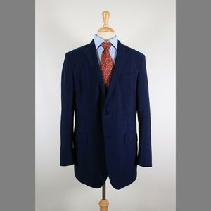 Ermenegildo Zegna 44L Blue Sport Coat Y802